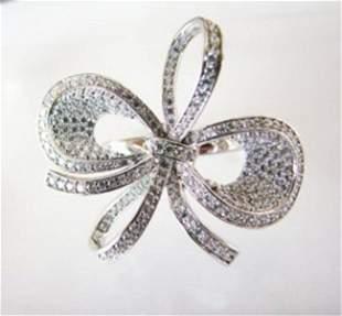 Creation Diamond Ring 3.46Ct 18k W/g Overlay