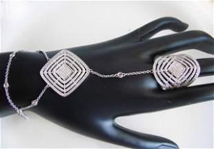 Creation Diamond Ringcelet 8.90 CT 18K W/Y Overlay