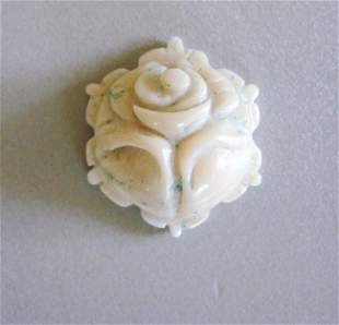 Loose Carved White Coral Pendant 38.97Ct