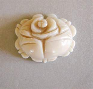 Loose Carved White Coral Pendant 44.98Ct