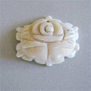 Loose Carved White Coral Pendant 40.99Ct