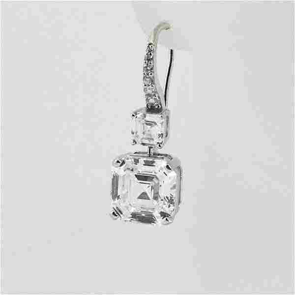 Dangle Earrings Creation, Diamond 18k W/G Overlay