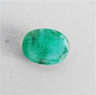 Natural Zambian Emerald Oval Shape 1.97 CT 8x6.8x4.6 mm
