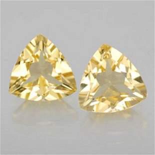 Natural Yellow Golden Beryl Pairs Trillion Cut 2.06Ct