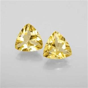 Natural Yellow Glden Beryl Pairs Trillion Cut 1.58 Ct
