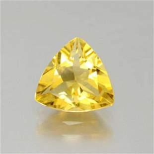 Natural Yellow Golden Beryl Trillion Cut 2.08Ct