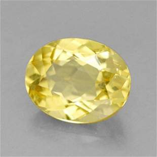 Natural Yellow Golden Beryl Oval Shape .83Ct