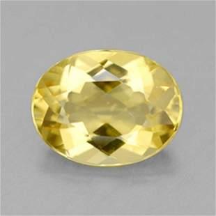 Natural Yellow Glden Beryl Oval Shape .94Ct 8x6x3.6mm