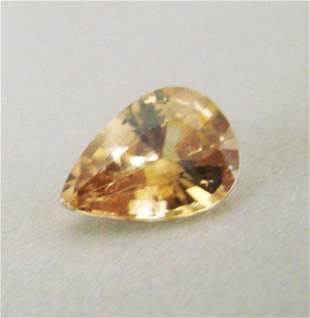 Natural Orange Zircon Pear Cut 5.95Ct 12.9x9.1x5.9 mm