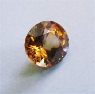 Natural Orange Zircon Oval Cut 4.79Ct 9.7x8.8x6 mm
