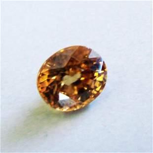 Natural Orange Zircon Oval Cut 4.24Ct 9.5x8.2x5.5 mm