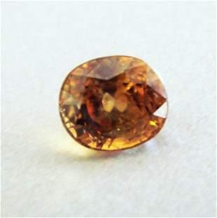 Natural Orange Zircon Oval Cut 5.21Ct 9.5x8.2x6.5 mm