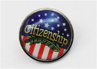 Citizenship Tie Pin Sterling Silver