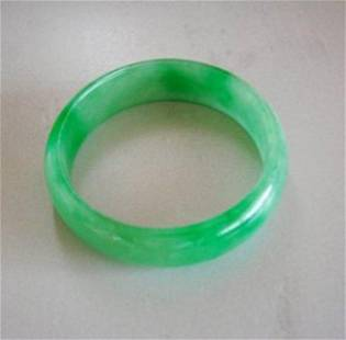 Natural Jadeite Jade Bangle Grade: B Size: 6.75