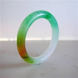 Natural Jadeite Jade Bangle Grade: B Size:7.75