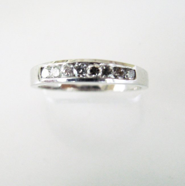 Wedding Ring Diamond : .36 Carat 14K White Gold