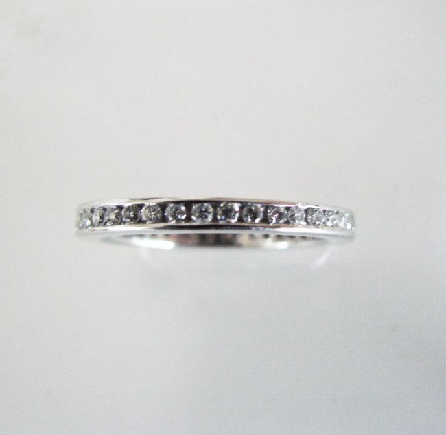 Eternity Wedding Ring Diamond :.80 Carat 14K White Gold