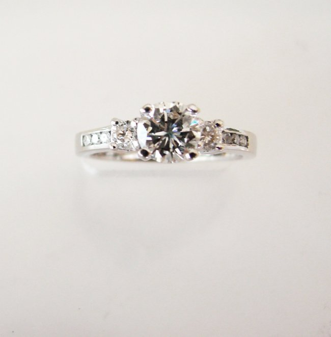 Wedding Diamond Ring 1.01Ct 18k W/g EGL Cert