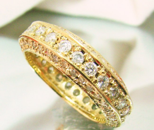 Diamond Eternity Ring 2.66Ct 14k Y/g