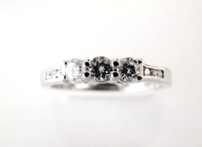 Wedding Diamond Ring .56Ct 18k W/g