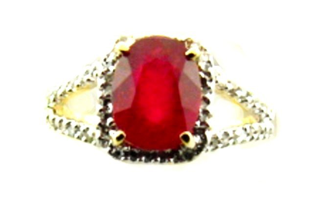 Anniversary Ruby Diamond Ring 3.11Ct14k Y/g
