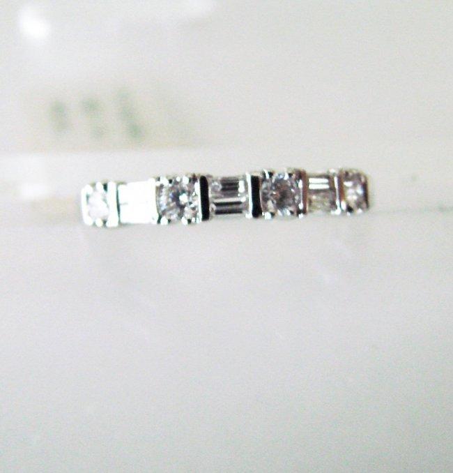 Wedding Ring Diamond : .44 Carat 18K White Gold