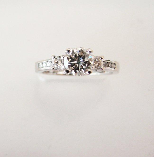 Wedding Diamond Ring 1.01Ct 18k W/g EGL Cert