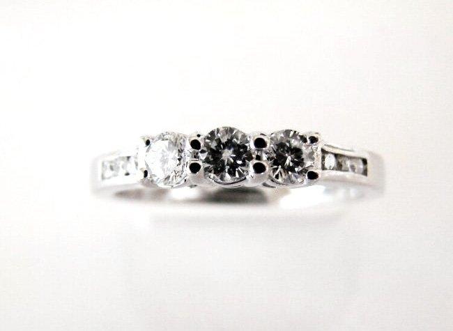 Wedding Diamond Ring .56Ct 18k W/g