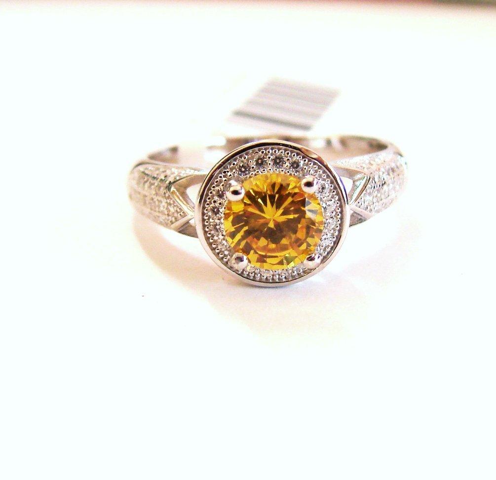 Creation Diamonds Ring 1.92Ct 18k W/g Overlay