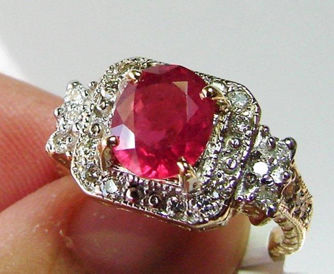 Anniversary Ruby Diamond Ring 4.59Ct 14k Y/g