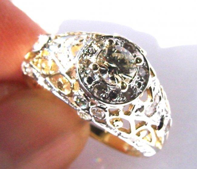 Engagement Diamond Ring : 1.57 Carat 14K White Gold