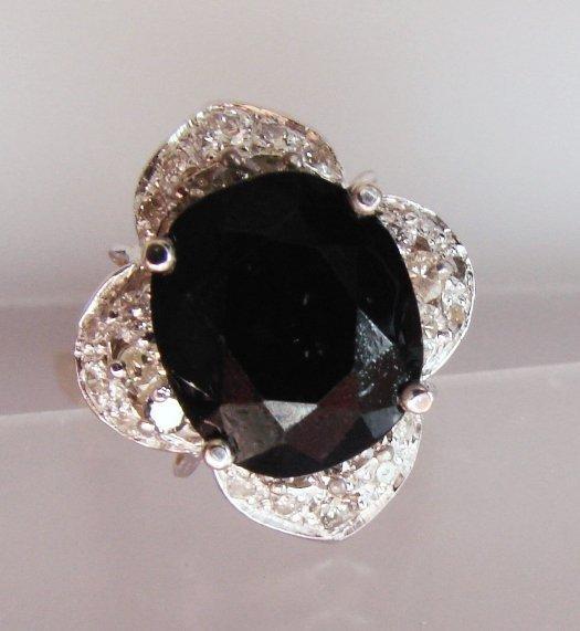 Anniversary Sapphire Diamond Ring 6.29Ct 14k Y/g