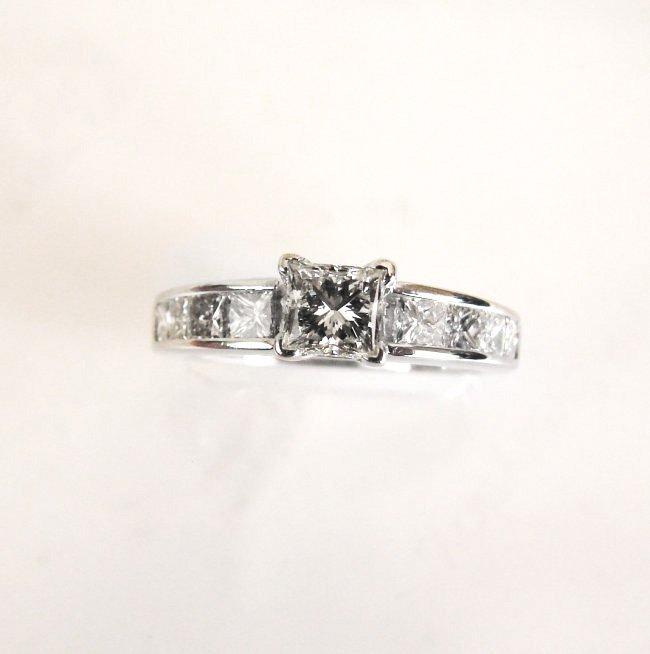 Engagement Diamond Ring 1.70Ct 14k W/G