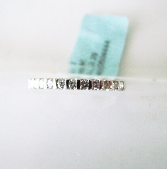 Wedding Ring Diamond : .29 Carat 18K White Gold