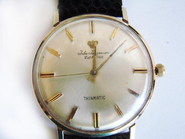 Vintage Jules Jurgensen 14k Gold Men's Wrist Watch
