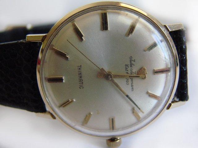 Vintage Jules Jurgensen 14k Gold Men's Wrist Watch - 2