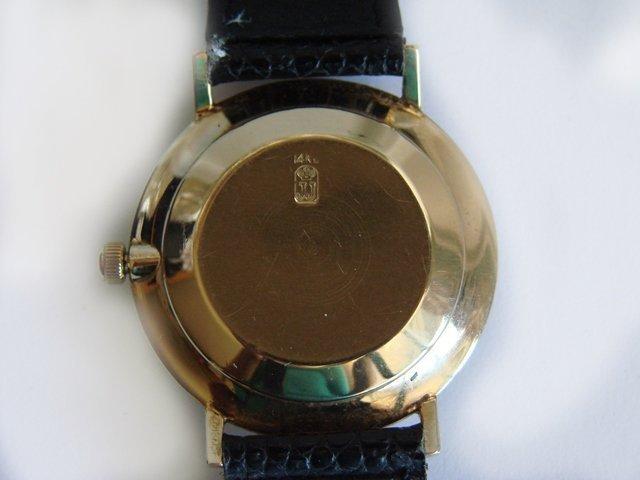 Vintage Jules Jurgensen 14k Gold Men's Wrist Watch - 3
