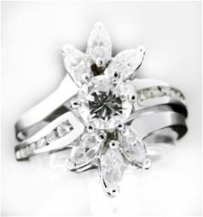 Wedding Diamond Ring 2.40 Carat 14k W/g