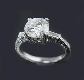 Anniversary Ring Diamond 1.68 Carat 14k W/g