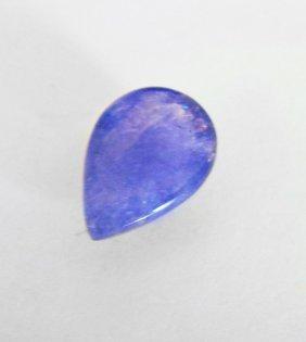 Tanzanite Cabochon Pear Shape 4.23ct 12x8.3x5 Mm