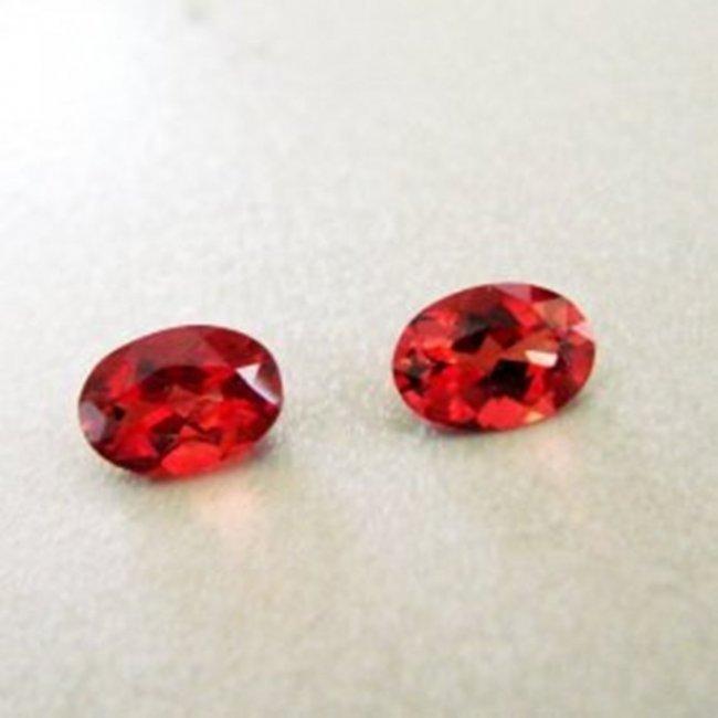 Natural Hessonite Garnet Oval Cut Pairs 2.00Ct