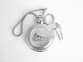 Pocket Watch \'l\' Luis Cardini 18k W/g Overlay