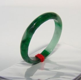 Natural Chinese Jadeite Jade Ring Size: 7. 5 Width