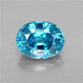 Natural Blue Zircon Oval Cut 2.66Ct 9.2x7x3.7mm