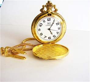 Pocket Watch 'L' Luis Cardini 18k Y/g Overlay