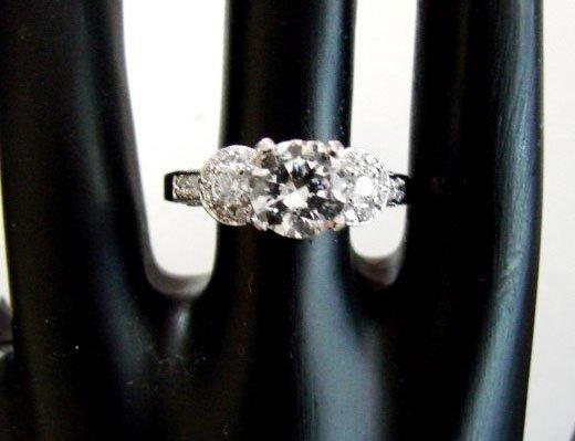 Engagement Ring Diamond 2.31Ct 18k White Gold
