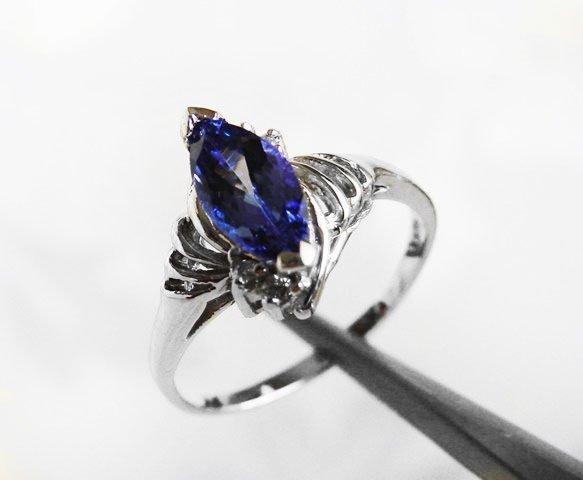 Tanzanite & Diamond Ring 1.20T14k W/g