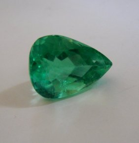 Natural Green Fluorite Pear Shape 23.79ct