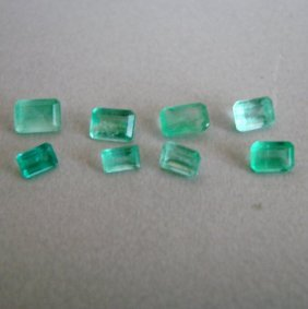 Mixed Size Octagon Shape Columbia Emerald 3.16ct