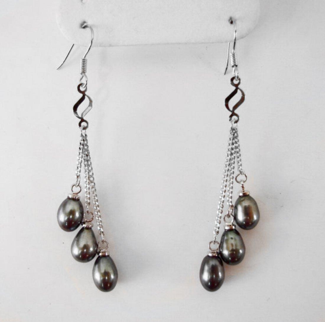 Natural Freshwater Pearl Pear Shape Earrings Dangle